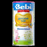 Детский чай Bebi Premium фенхелевый, инстантный, с 6 месяцев, 200 гр