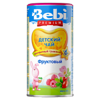 Детский чай Bebi Premium фруктовый, инстантный, с 6 месяцев, 200 гр