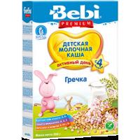 Каша Bebi Premium гречневая молочная, с 4 месяцев, 200 гр