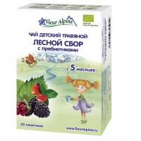 """Детский чай Fleur Alpine травяной """"Лесной сбор"""" с пребиотиками, c 5 месяцев"""