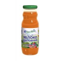 Детский сок Fleur Alpine Organic яблочно-шиповниковый, с 5 месяцев
