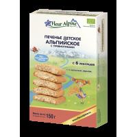 """Детское печенье Fleur Alpine Organic """"Альпийское"""" с пребиотиками растворимое, с 6 месяцев"""