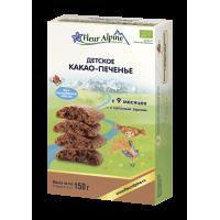 """Детское печенье Fleur Alpine Organic """"Какао"""" растворимое, с 9 месяцев"""
