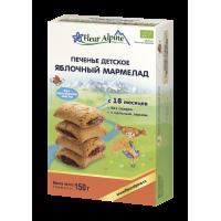"""Детское печенье Fleur Alpine Organic """"Яблочный мармелад"""", с 18 месяцев"""