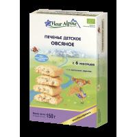 Детское печенье Fleur Alpine Organic овсяное растворимое, с 6 месяцев