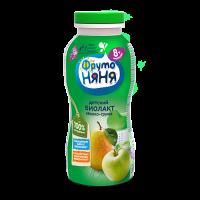 ФрутоНяня Биолакт с яблоком и грушей, с 8 месяцев, 200 гр