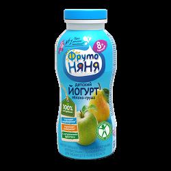 ФрутоНяня Йогурт питьевой с яблоком и грушей, с 8 месяцев, 200 гр