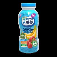 ФрутоНяня Йогурт питьевой с клубникой и бананом, с 8 месяцев, 200 гр