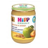 HIPP Овсяная каша с абрикосами и яблоками, с 6 месяцев, 190 гр