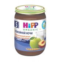 HIPP Молочный манный десерт с яблоками и персиками, с 5 месяцев, 190 гр