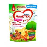 Каша Малютка гречневая с лесными ягодами молочная, с 6 месяцев, 220 гр