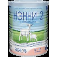 Смесь Бибиколь НЭННИ® 2 с пребиотиками, 6-12 мес., 400 гр