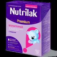 Смесь Nutrilak Premium Безлактозный, с рождения, 350 гр.