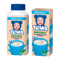 Тёма Биолакт без сахара, с 8 месяцев, 206 гр